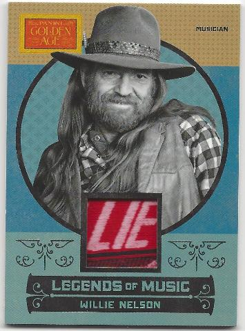 Willie Nelson 2014 Panini Golden Age Legends of Music  3 Color Memorabilia Card