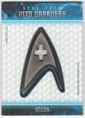 McCoy 2014 Star Trek Movies Uniform Badges #B22 (Medical Division Badge)