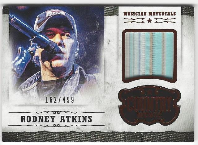 Rodney Atkins 2014 Panini Country Music Musician Materials Memorabilia Card