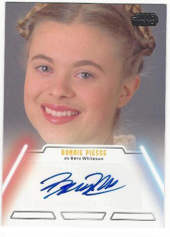 Bonnie Piesse as Beru Whitesun Star Wars Jedi Legacy Autograph Card #6
