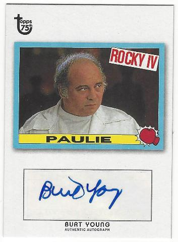 Burt Young 2013 Topps 75th Rocky IV Paulie Rare Autograph Card