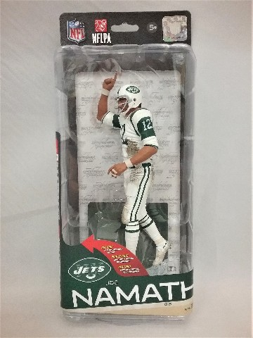 2014 Joe Namath McFarlane's Sportspicks Figure New York NY Jets NFLPA NFL 35