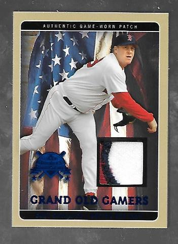 CURT SCHILLING 2005 Fleer National Pastime Grand Old Gamers Game Worn Patch /38