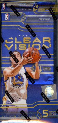 2015/16 Panini Clear Vision Basketball 16 Hobby Box Master Case (Sealed)