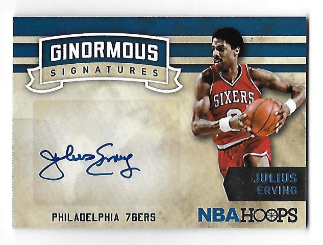 JULIUS ERVING 2015-16 Panini Hoops Ginormous Signatures auto Autograph 76'ers