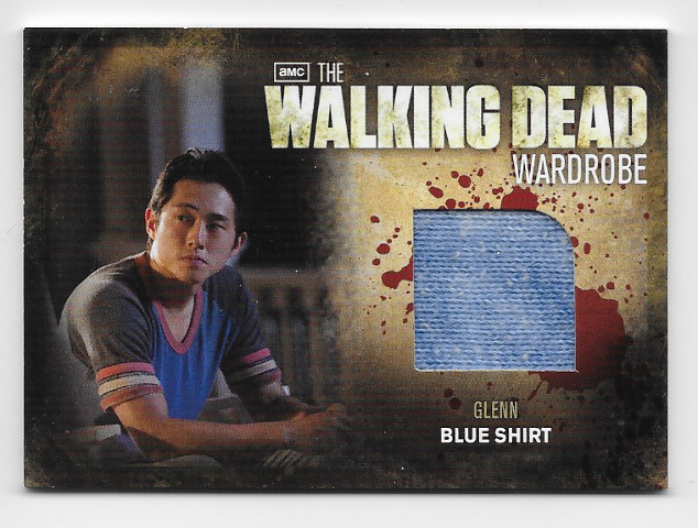 Glenn 2012 Cryptozoic Walking Dead season 2 Wardrobe Card M15 Blue Shirt