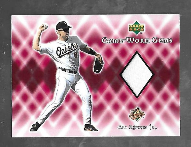 CAL RIPKIN JR 2002 Upper Deck Game-Worn Gems patch #G-CR SS Orioles