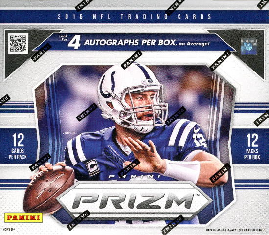 2015 Panini Prizm Football 12 Pack Jumbo Hobby Box (Sealed)