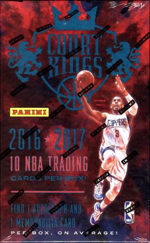2016/17 Panini Court Kings Basketball Hobby 16 Box/Pack Case (Sealed)