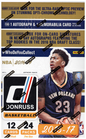 2016/17 Panini Donruss Basketball 20 Hobby Box Case (Sealed)