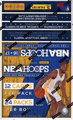 2016/17 Panini NBA Hoops Basketball 20 Hobby Box Case (Sealed)