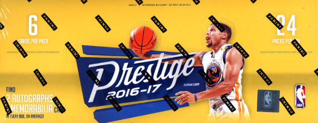 2016/17 Panini Prestige Basketball 16 Hobby Box Case (Sealed) + 32 NBA Day Packs