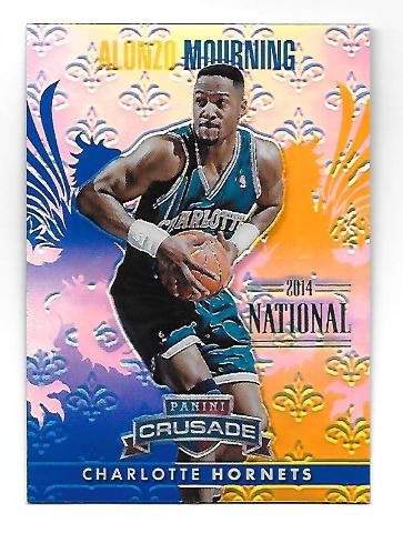 ALONSO MOURNING 2013-14 Panini Crusade Blue Refracor /5 Charlotte Hornets