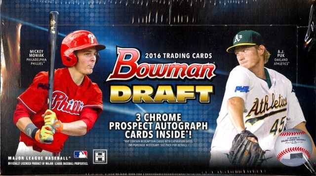 2016 Bowman Draft Picks & Prospects Baseball Jumbo Box (Sealed)