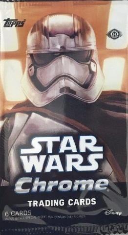 2016 Topps Star Wars Chrome: The Force Awakens 6 Card Hobby Pack (Sealed)