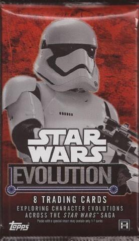 2016 Topps Star Wars Evolution 8 Card Hobby Pack (Sealed)