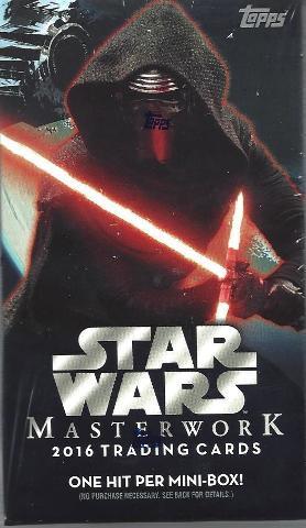 2016 Topps Star Wars Masterwork Trading Cards 5 Card Hobby Mini-Box/Pack (Sealed