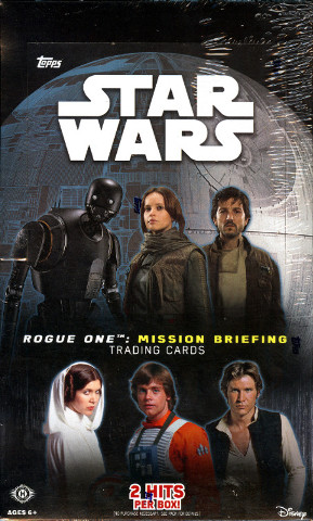 2016 Topps Star Wars Rogue One: Mission Briefing 24 Pack Hobby Box (Sealed)