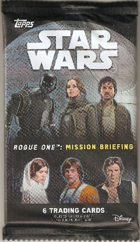2016 Topps Star Wars Rogue One: Mission Briefing 8 Card Hobby Pack (Sealed)