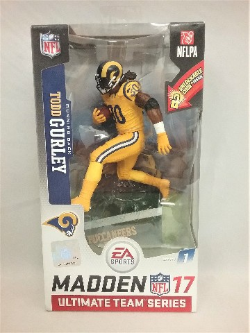 2016 Todd Gurley Variant Yellow Jersery NFLPA Madden McFarlane's Sportspicks Figure Series 1 Ultimate Team Series St. Louis Rams Los Angeles LA Rams