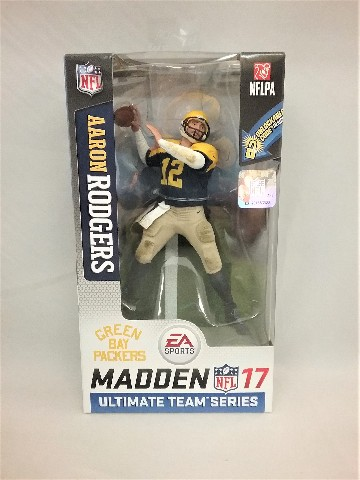 2016 Aaron Rodgers NFL Madden McFarlane's Sportspicks Figure Series 2 Ultimate Team Series Green Bay Packers