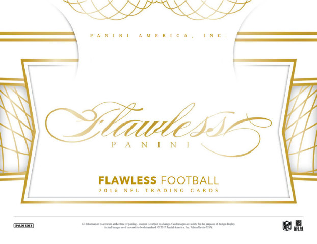 2016 Panini Flawless Football Hobby 10 Card Box (Factory Sealed)
