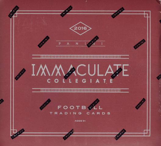 2016 Panini Immaculate Collegiate Football Hobby Box (Sealed)
