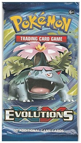1 Pokemon TCG XY Evolutions Trading Card Game Sealed Booster Pack (2016)