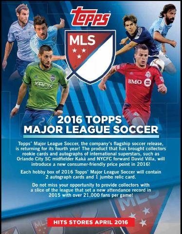 2016 Topps MLS Hobby 24 Pack Box (Factory Sealed) (Major League Soccer)