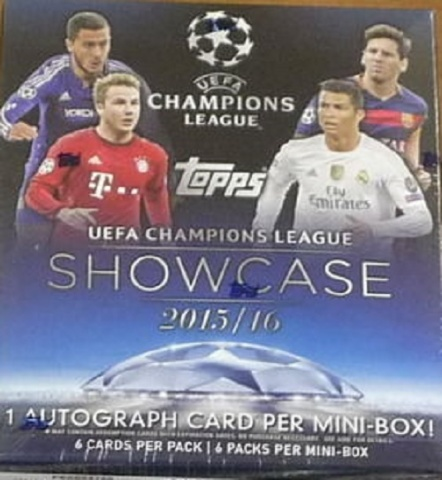 2016 Topps UEFA Champions League Showcase Soccer Hobby Sealed Mini-Box (6 Packs)