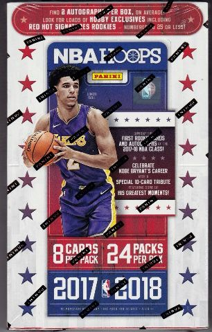 2017/18 Panini NBA Hoops Basketball Hobby Box (Sealed) (Random) 24 Pack s
