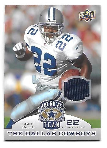 EMMITT SMITH 2009 Upper Deck America's Team Jersey #38 Dallas Cowboys