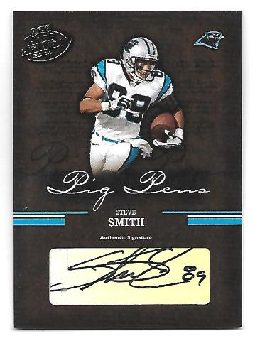 STEVE SMITH 2004 Playoff Hog Heaven Pig Pens auto /150 Carolina Panthers