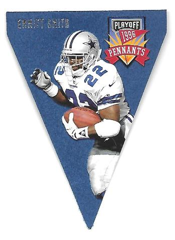 EMMITT SMITH 1996 Playoff Pennants Contenders die cut #22 Dallas Cowboys