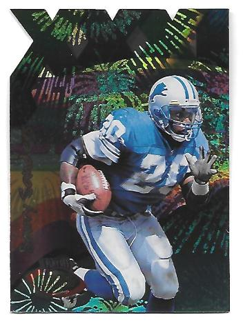 BARRY SANDERS 1996 Playoff Illusions XXXI Spectralusion #70 Detroit Lions
