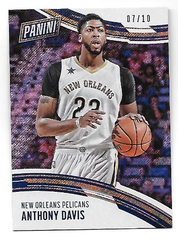 ANTHONY DAVIS 2016-17 Panini Day NBA Rapture Refractor/10 New Orleans Pelicans
