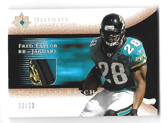 FRED TAYLOR 2005 Upper Deck Ultimate Collection Patch /20 3 color