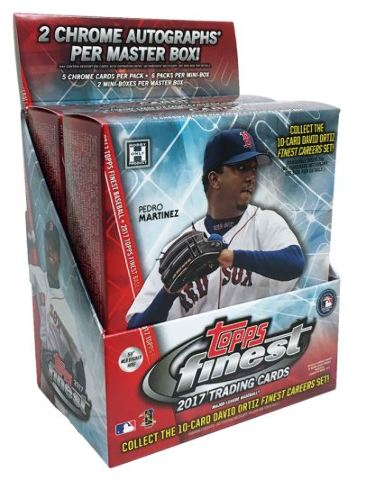 2017 Topps Finest Baseball Hobby Sealed Master Box (2 Mini-Boxes w/6 Packs Each)
