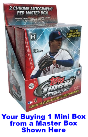 2017 Topps Finest Baseball Hobby Sealed MINI Box (6 Packs w/ 5 Cards Each)