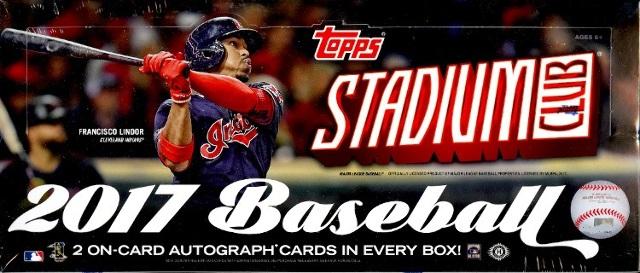 2017 Topps Stadium Club Baseball Hobby 16 Pack Box (Factory Sealed)