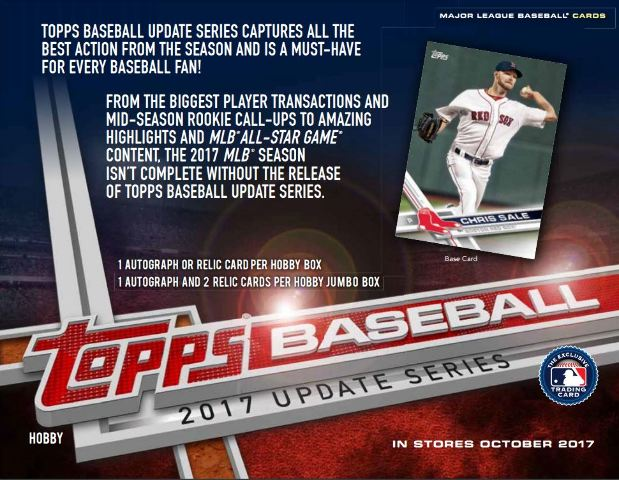 2017 Topps Update Series Baseball Hobby Box(36 Packs) Look 4 Cody Bellinger RC