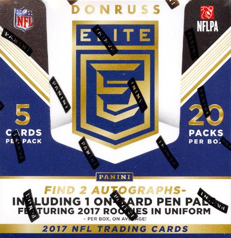 2017 Panini Donruss Elite Football Hobby 12 Box Case (Sealed)