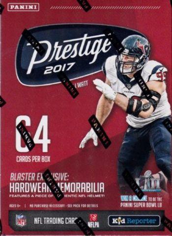 2017 Prestige Football 8 Pack Sealed Blaster Box look 4 exclusive memorabilia