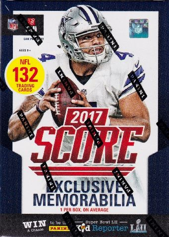 2017 Panini Score Football Blaster Box (Sealed)(11 Pack s)