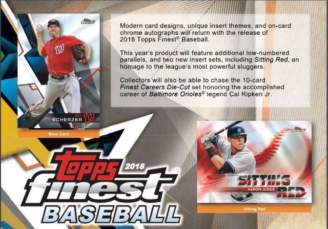 2018 Topps Finest Baseball Hobby Sealed Master Box (2 Mini-Boxes w/6 Packs Each)