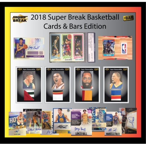 2018 Super Break Cards & Bars Basketball Box (Sealed)