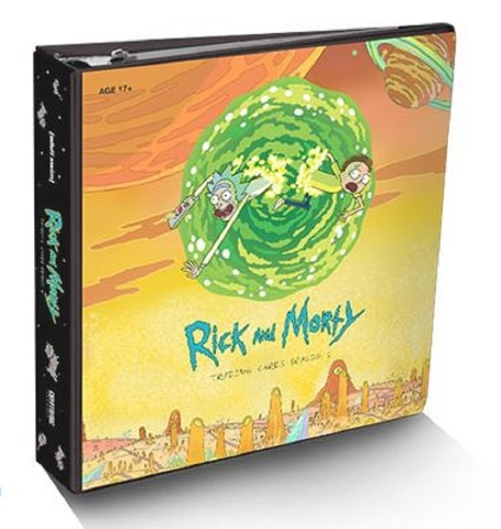 Rick&Morty Season 1 Trading Cards BINDER +exclusive Sticker Set 2018 Cryptozoic