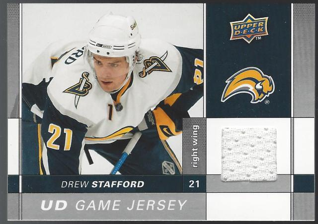 Drew Stafford UD Game Jersey Relic Upper Deck S2 2009-10 #GJ2-ST  Buffalo Sabres