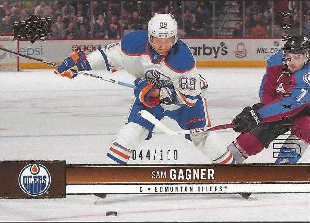 Sam Gagner Edmonton Oilers 2012-13 UpperDeck Update Hockey UD Exclusives #280/100
