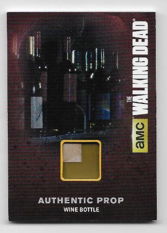 2016 Cryptozoic Walking Dead season 4  Authentic Prop Wine Bottle M21 olive color